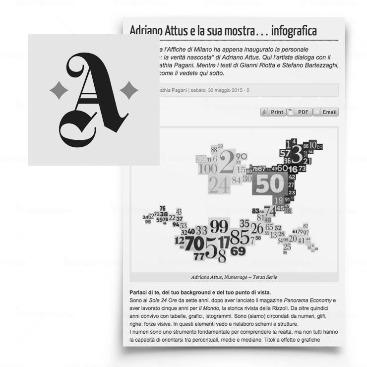 Adriano Attus e la sua mostra… infografica